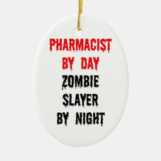 夜までに日のゾンビの殺害者による薬剤師 セラミックオーナメント