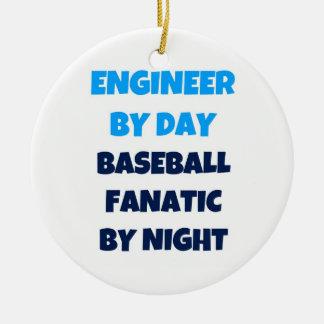 夜までに日の野球の熱狂者によるエンジニア セラミックオーナメント