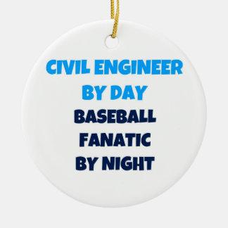 夜までに日の野球の熱狂者による土木技師 セラミックオーナメント