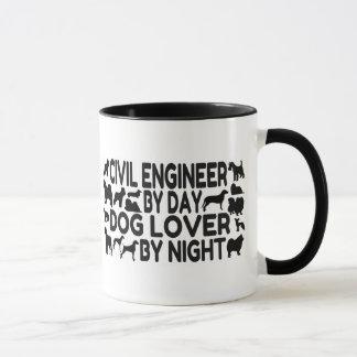 夜までに日犬の恋人による土木技師 マグカップ