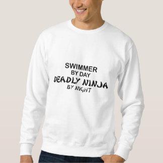 夜までに泳ぐ人の致命的な忍者 スウェットシャツ