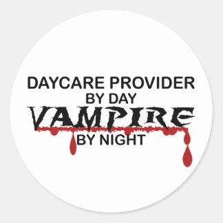 夜までに託児所の提供者の吸血鬼 ラウンドシール