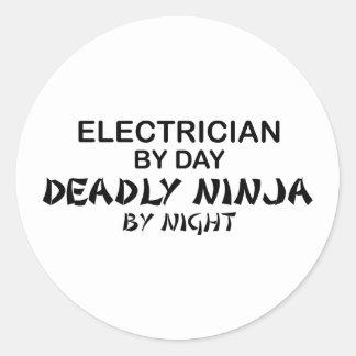 夜までに電気技師の致命的な忍者 ラウンドシール