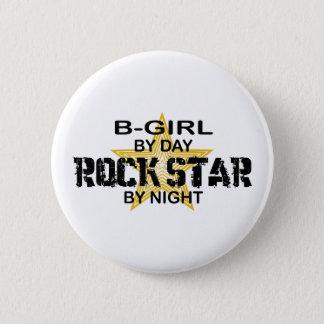 夜までにB女の子のロックスター 5.7CM 丸型バッジ