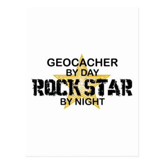 夜までにGeocacherのロックスター ポストカード