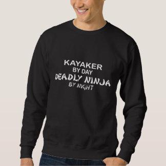 夜までにKayakerの致命的な忍者 スウェットシャツ