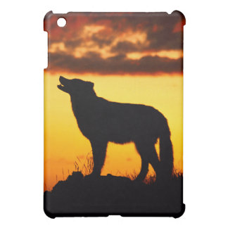 夜オオカミのシルエット iPad MINI カバー