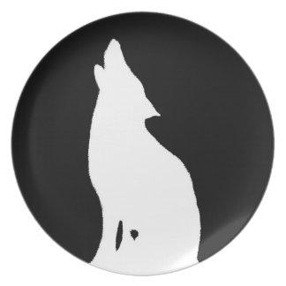 夜オオカミ プレート