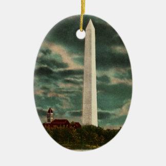 夜オーナメントによるワシントン記念塔 セラミックオーナメント
