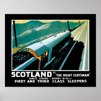 夜スコットランド人によるスコットランド プリント