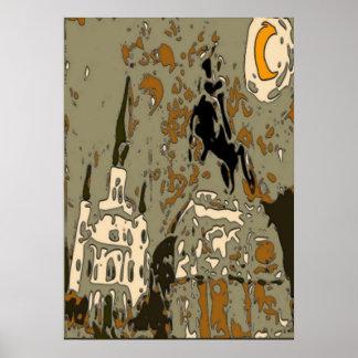 夜タイル14のジャクソンスクエア ポスター