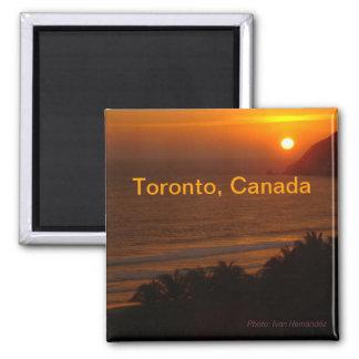 夜トロントカナダ旅行記念品の冷蔵庫用マグネット マグネット