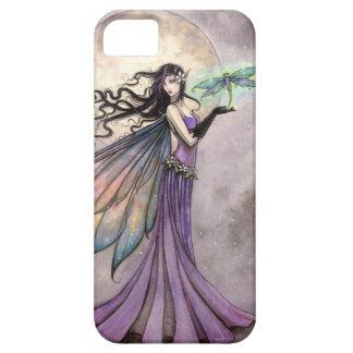夜トンボの妖精のファンタジーの芸術 iPhone SE/5/5s ケース