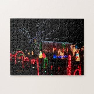 夜パズルのクリスマスの照明!! ジグソーパズル