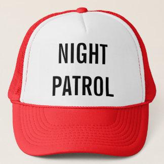 夜パトロールで行くこと キャップ