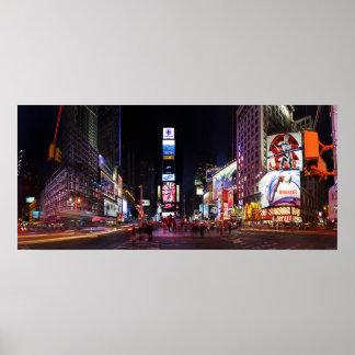 夜パノラマポスターによるタイムズ・スクエア ポスター