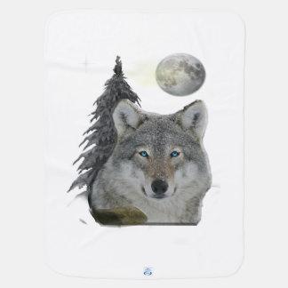 夜プロダクトのオオカミ ベビー ブランケット