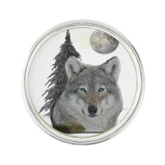 夜プロダクトのオオカミ ラペルピン