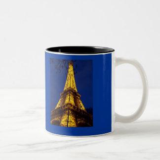 夜マグのエッフェル塔パリ ツートーンマグカップ