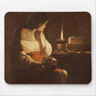 夜ライトを持つマグダラのマリア、1630-35年 マウスパッド