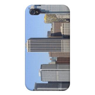 夜ライト、NYCのマンハッタンスカイライン iPhone 4 カバー
