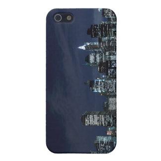 夜ライト、NYCのマンハッタンスカイライン iPhone 5 CASE