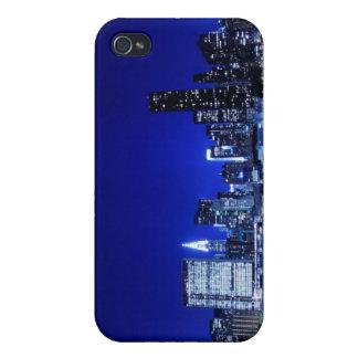 夜ライト、NYCのミッドタウンのスカイライン iPhone 4/4Sケース