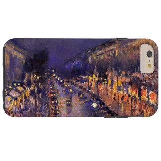夜ヴィンテージの芸術のPissarro通りMontmartre Tough iPhone 6 Plus ケース