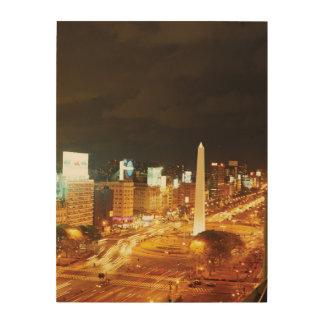 夜交通および記念碑 ウッドウォールアート
