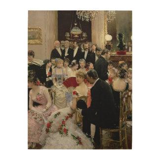 夜会、c.1880 ウッドウォールアート