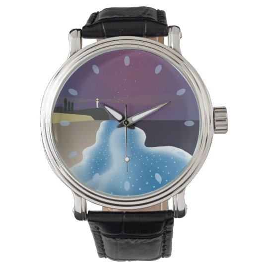 夜光虫 (ブルー) 男性用 腕時計