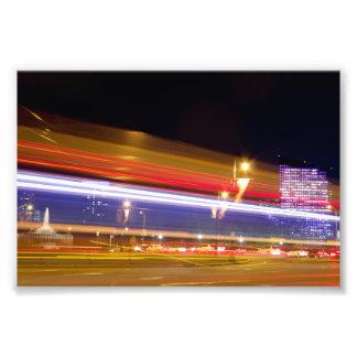 夜写真のフィラデルヒィアの交通 フォトプリント
