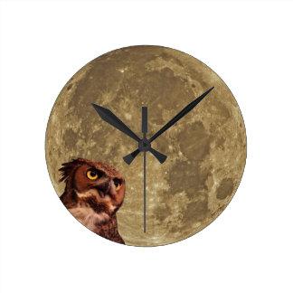 夜型の人の時計 ラウンド壁時計