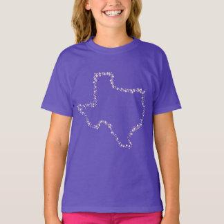 夜女の子のワイシャツの星 Tシャツ