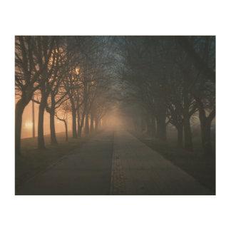 夜影の通り ウッドウォールアート