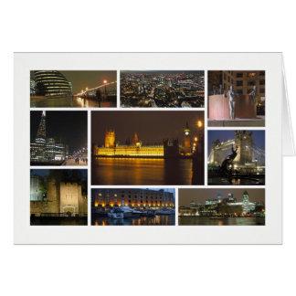 夜数々のイメージのロンドン グリーティングカード
