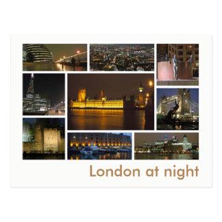 夜数々のイメージのロンドン ポストカード