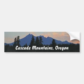夜明けにオレゴンの滝 バンパーステッカー