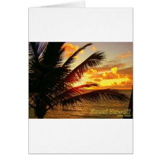 夜明けにカウアイ島ハワイ カード