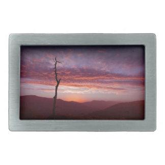 夜明けにブルーリッジ山脈 長方形ベルトバックル