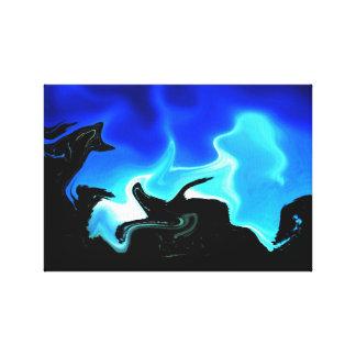 夜明けに影 キャンバスプリント