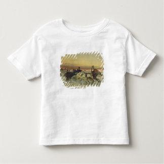 夜明けに疾走する冬のトロイカ トドラーTシャツ