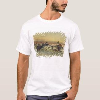 夜明けに疾走する冬のトロイカ Tシャツ