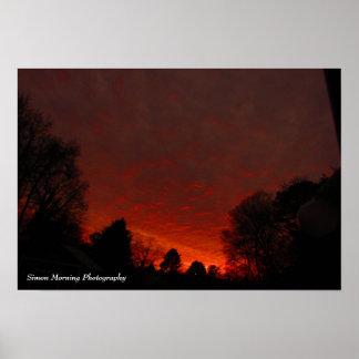 夜明けに赤い空 ポスター