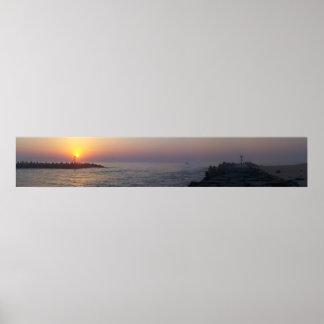 夜明けにManasquanの入口 ポスター