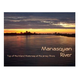 夜明けにManasquanの川 ポストカード