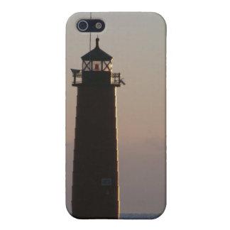 夜明けにPierheadの灯台 iPhone SE/5/5sケース