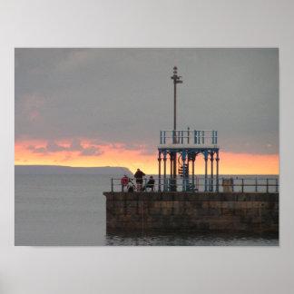 夜明けにWeymouth桟橋 ポスター