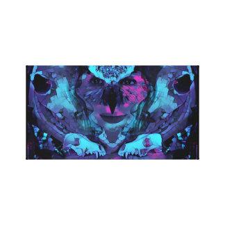 夜明けのキャンバスの芸術のフクロウの女性 キャンバスプリント