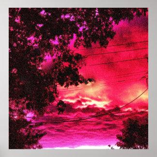 夜明けのデジタル芸術の写真撮影 ポスター